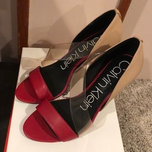 c792aa18e70 Women Calvin Klein Clear Heels on Poshmark